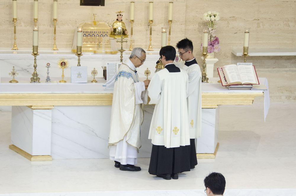 Church of St Anthony Servers at Latin Mass
